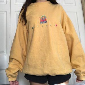 """Yellow oversized """"Naples"""" sweatshirt"""